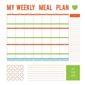 weekly meal planning worksheet
