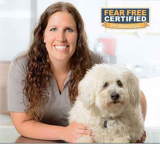 Dr. Nicole is fear-free certified.