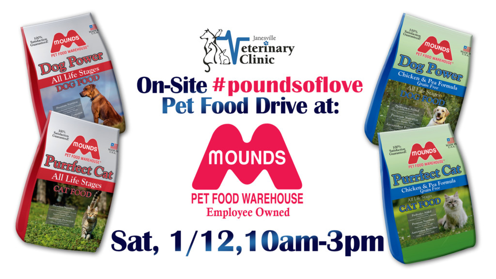 on site pet food drive at mounds