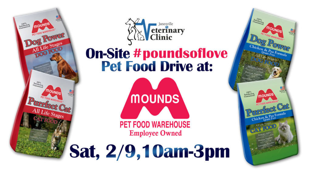 Pet food drive at Mounds